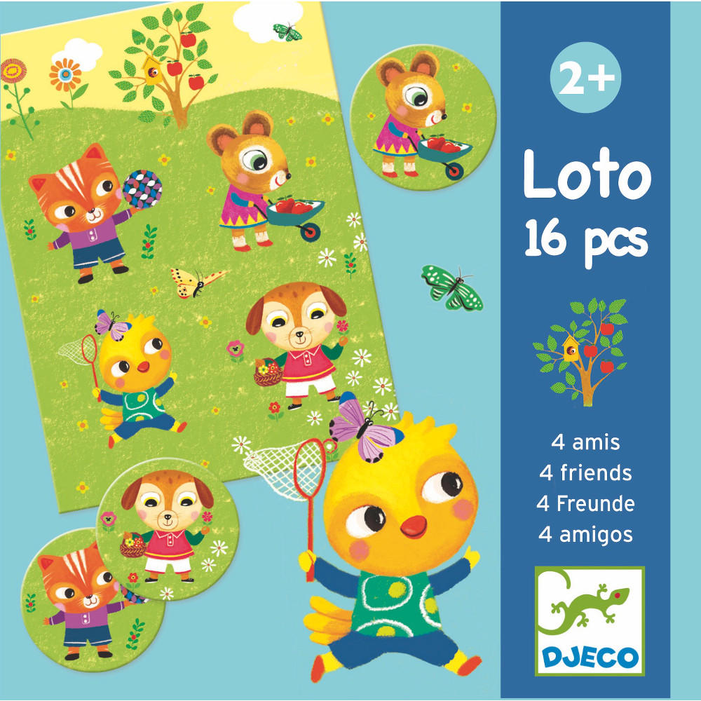 Four friends lotto game by Djeco