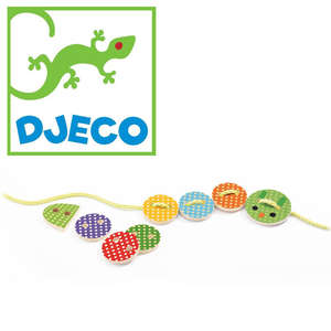 Djeco lassabasic lacing toy