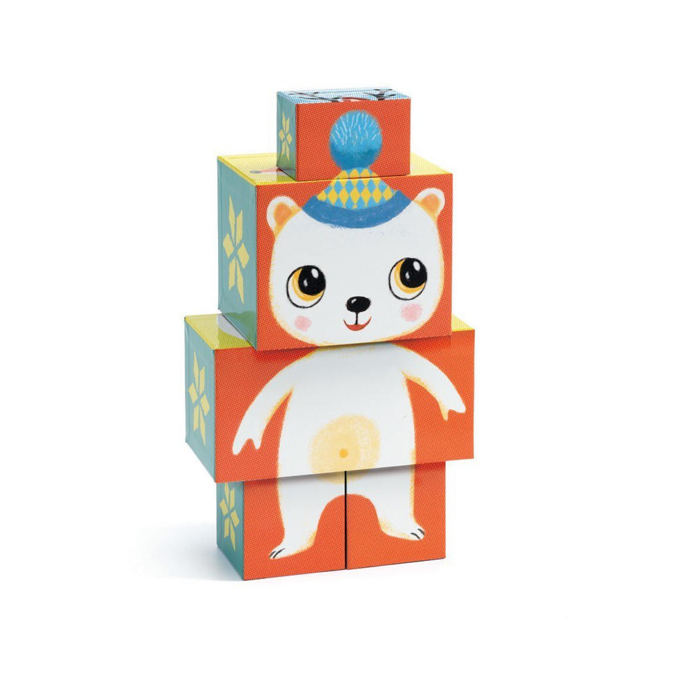 Djeco woodland animal cubes