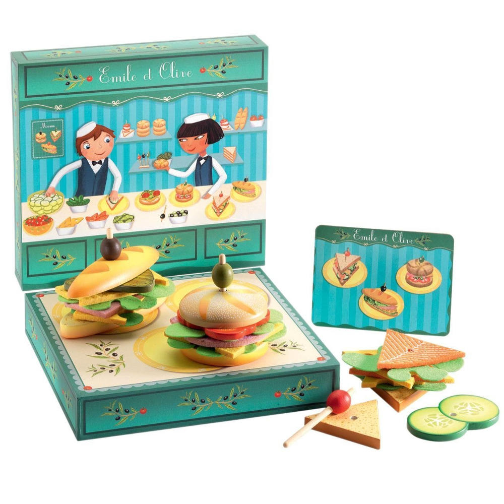 Emile & Olive sandwich shop playset by Djeco