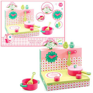 Pastel cooker playset by Djeco