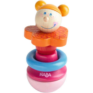 Madame baby rattle by Haba