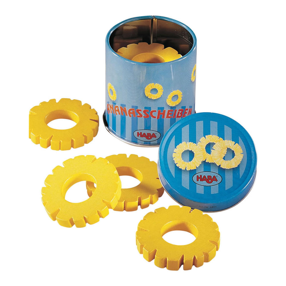 Haba tin of pineapple rings