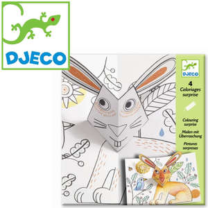 Bunny up colouring surprise by Djeco