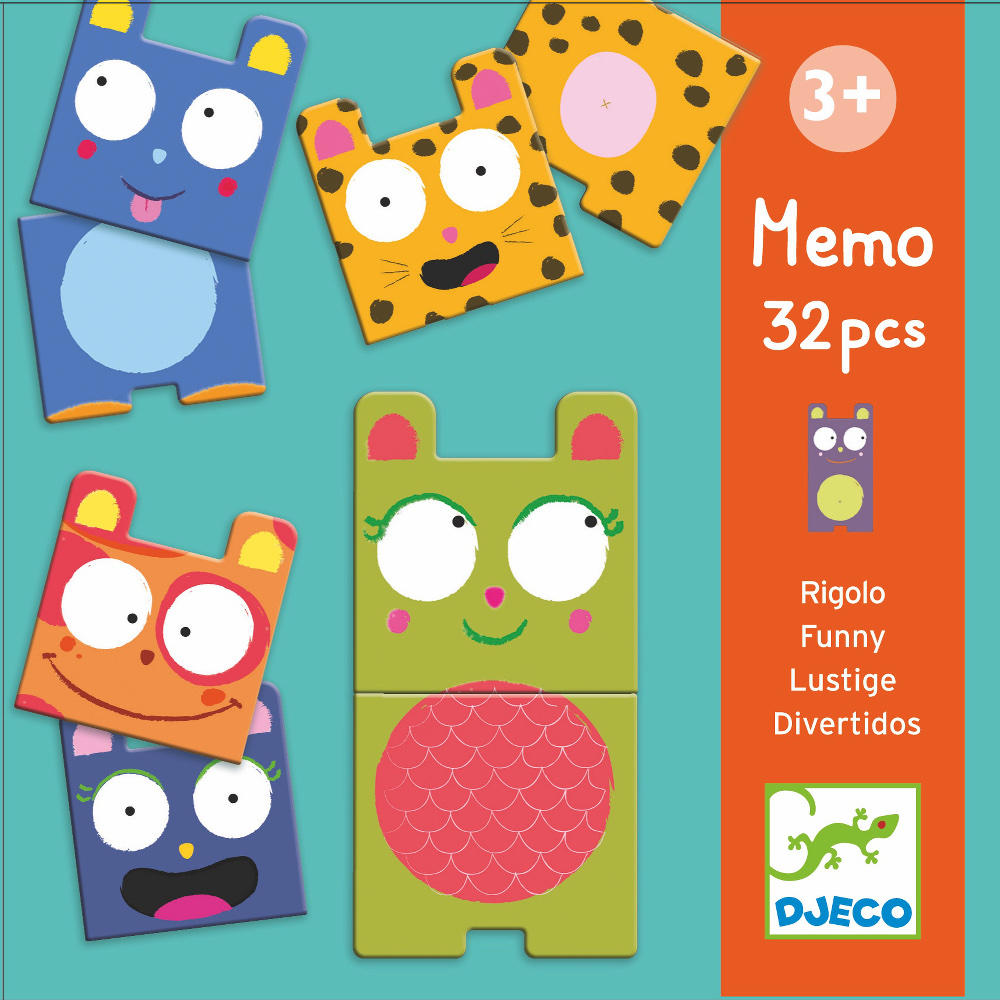Funny animals memo game by Djeco