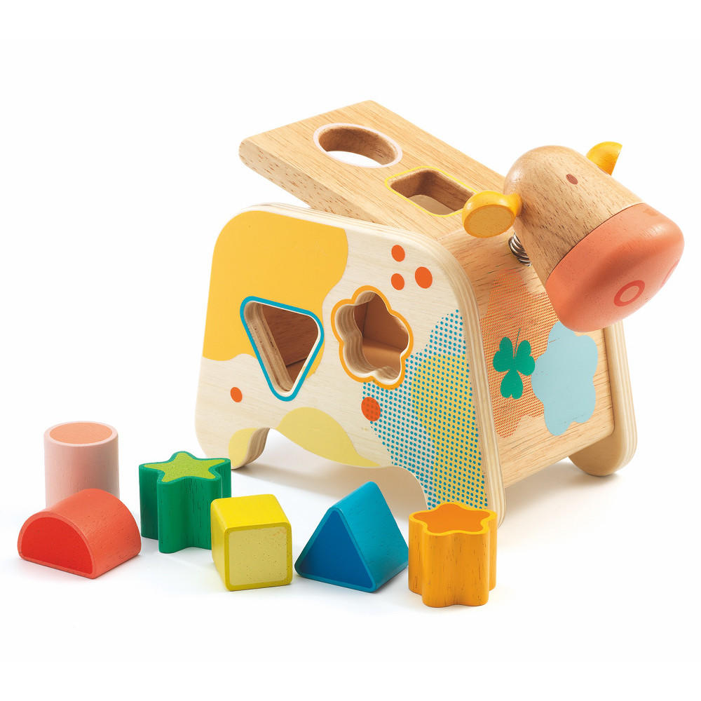 Cachatou Maggy cow shape sorter by Djeco