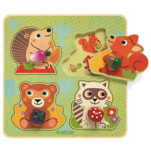 Djeco croc-nut wooden button puzzle
