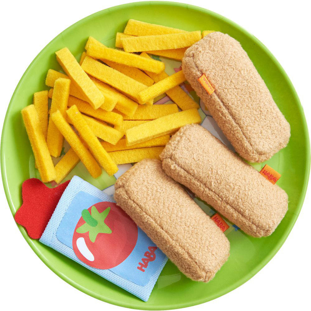 Haba fish fingers and french fries