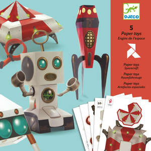 Djeco spacecraft paper toys