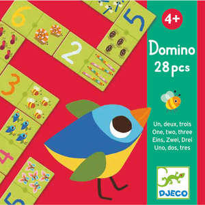 Domino 1, 2, 3 number matching game by Djeco