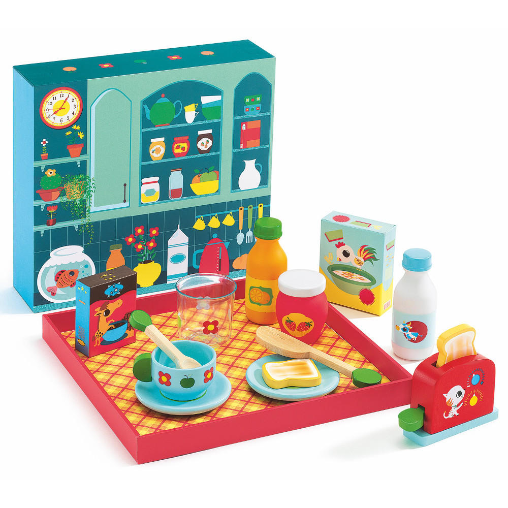 djeco breakfast time wooden play food toyjeanius. Black Bedroom Furniture Sets. Home Design Ideas