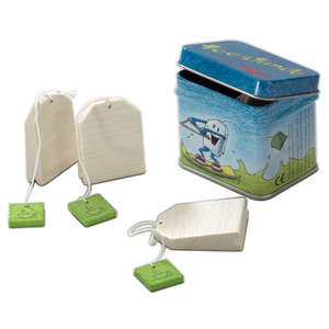 Haba play food tea bag in a tin