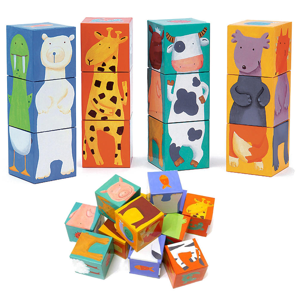 Djeco colour animal blocks