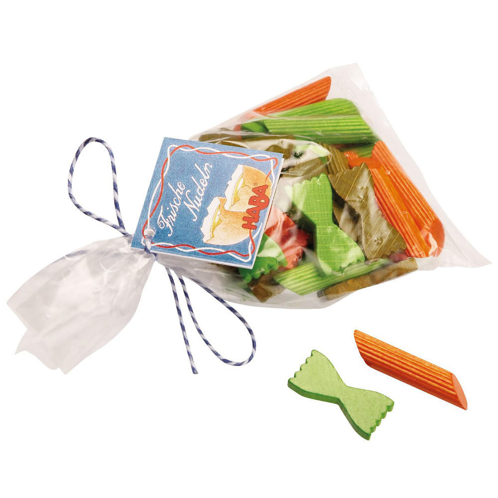 Wooden multi colour noodles by Haba