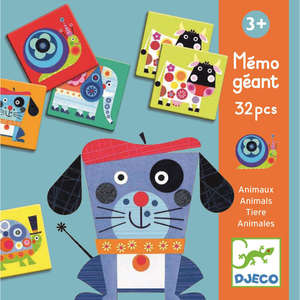 Giant animal memo game by Djeco