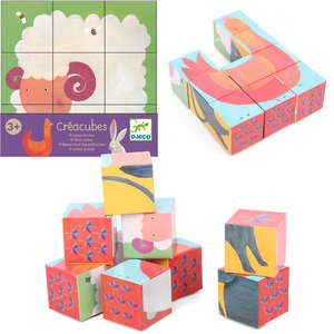 Farm animal puzzle cubes by Djeco