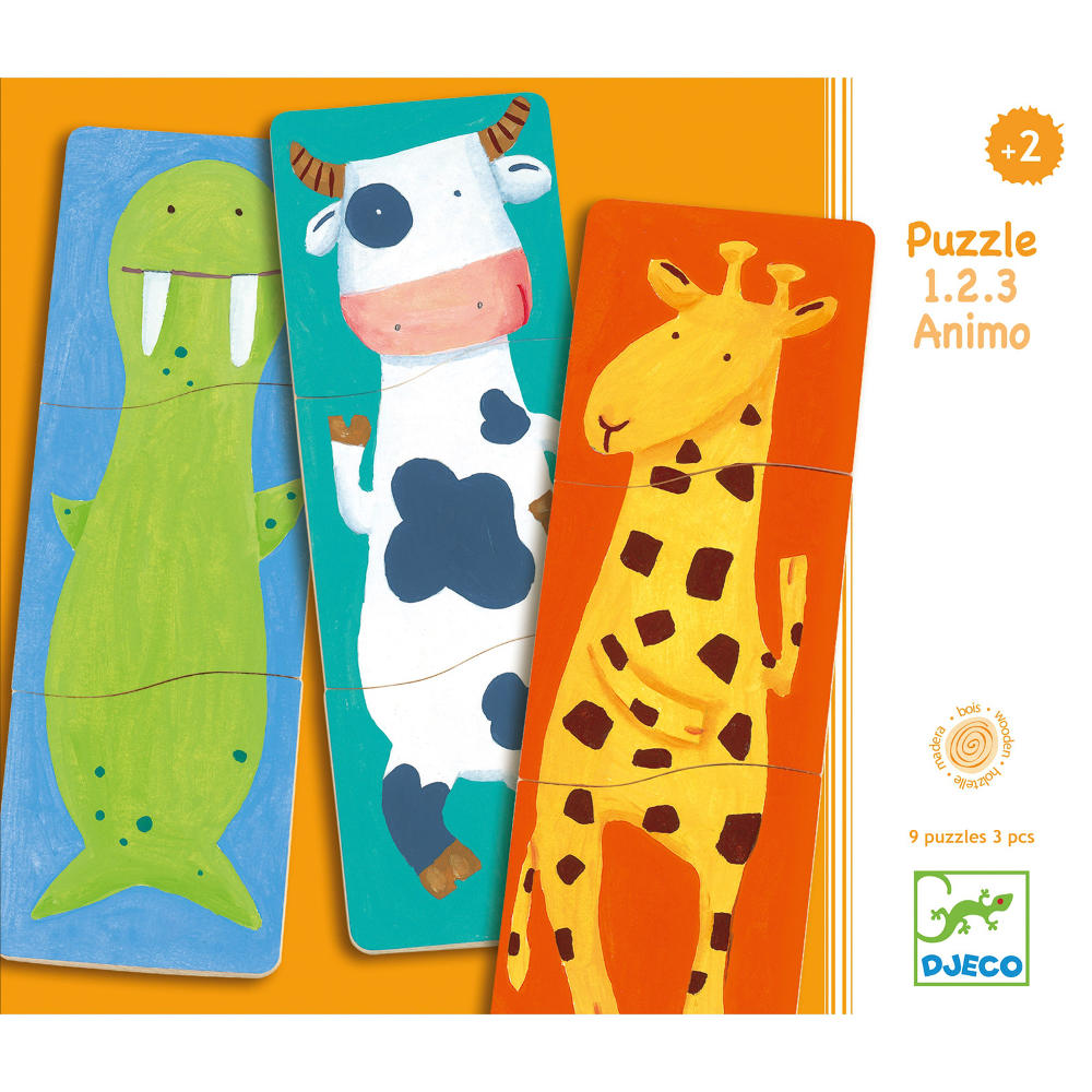 Funny animals wooden puzzle by Djeco