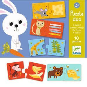 Dinner's ready puzzle duo by Djeco