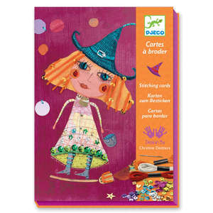 Witches stitching cards by Djeco