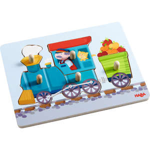 Haba train peg puzzle