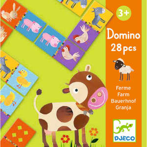 Djeco farm animal domino game