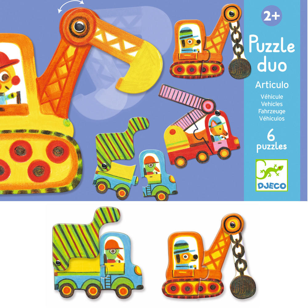 Djeco puzzle duo - vehicles