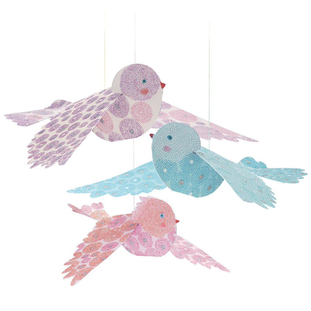 Djeco glitter birds to hang