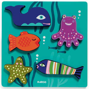 Sea animals relief puzzle by Djeco