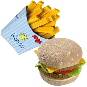 Hamburger and french fries play food by Haba