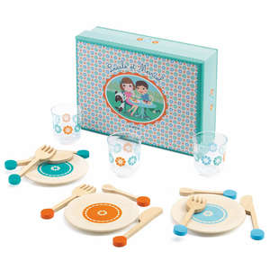 Lucile & Marcel tableware set by Djeco