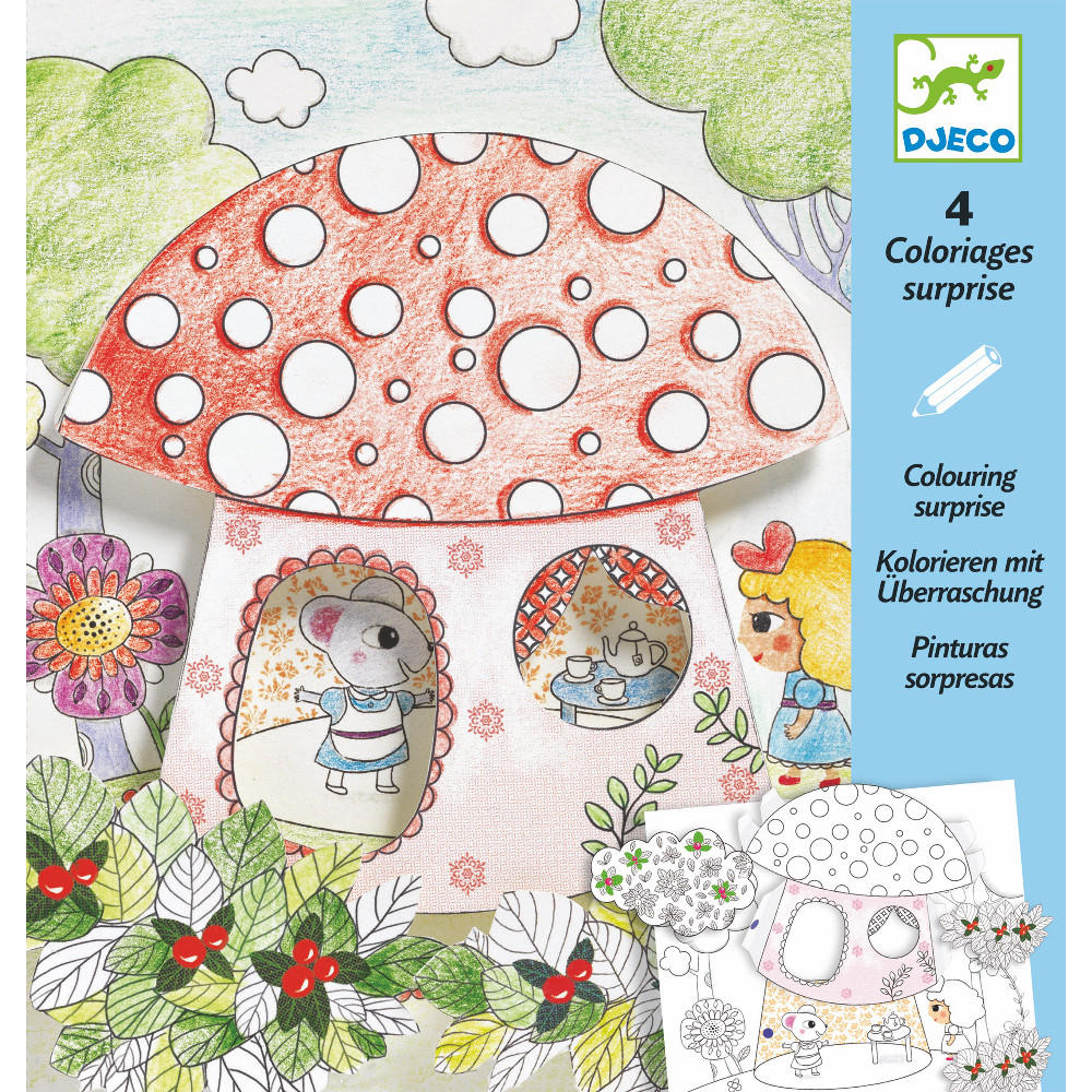 Thumbelina colouring surprise by Djeco