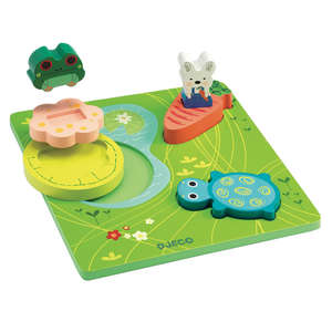 123 Froggy wooden puzzle by Djeco