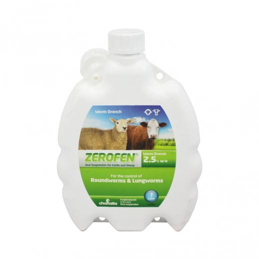 Zerofen 2.5% sheep and cattle wormer
