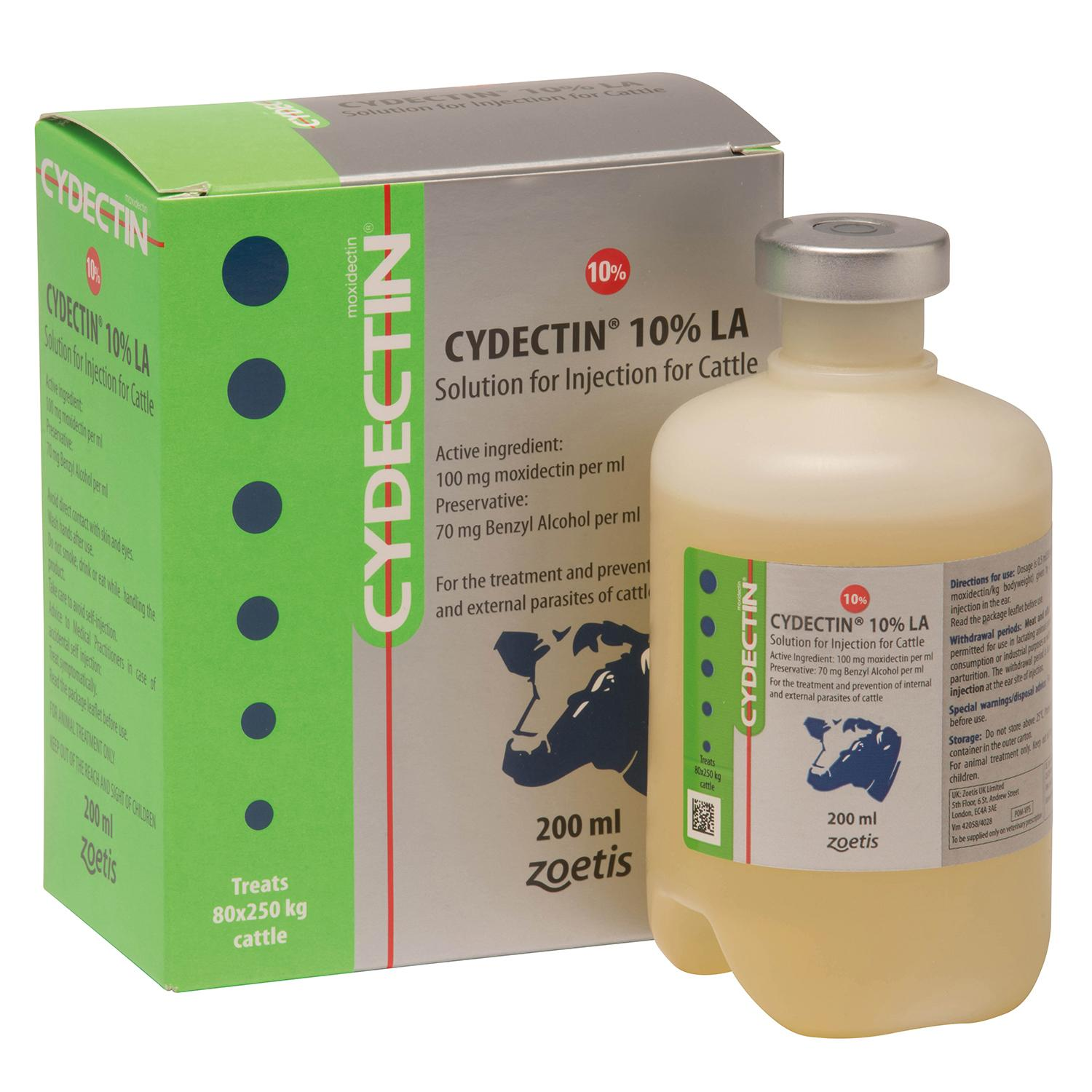 CYDECTIN 10% LA INJECTION