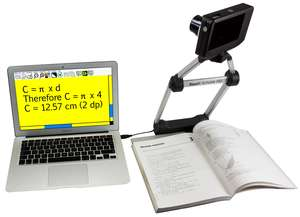 Readit Scholar camera facing a whiteboard