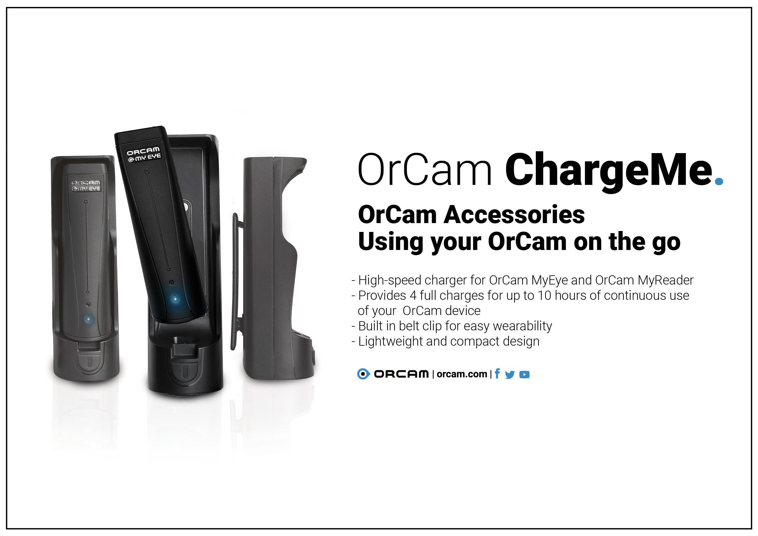 OrCam ChargeMe for using your Orcam on the go
