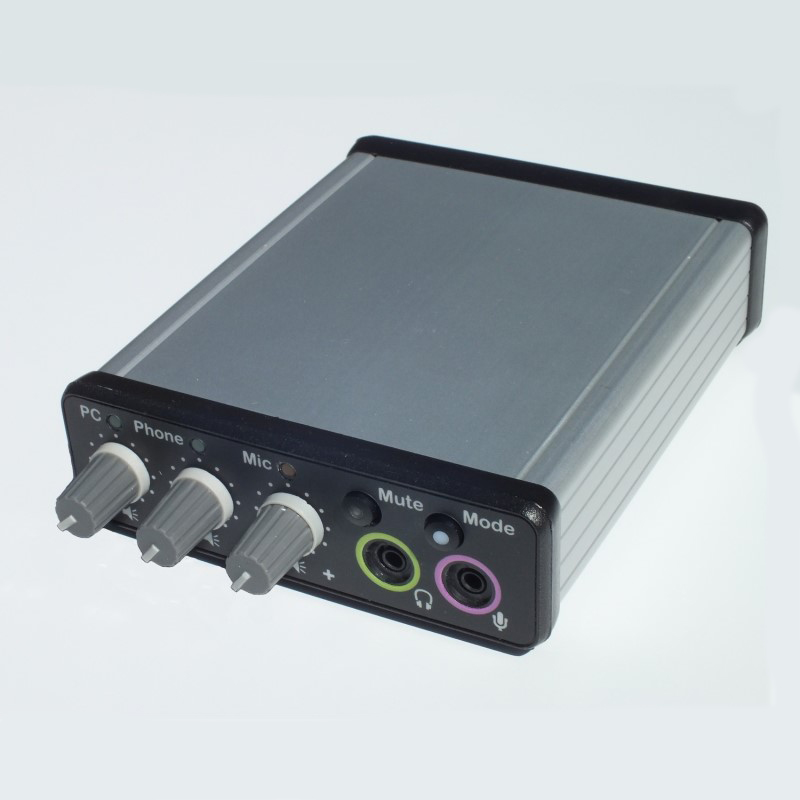 Duo-Comm 2 splitter box audio mixer