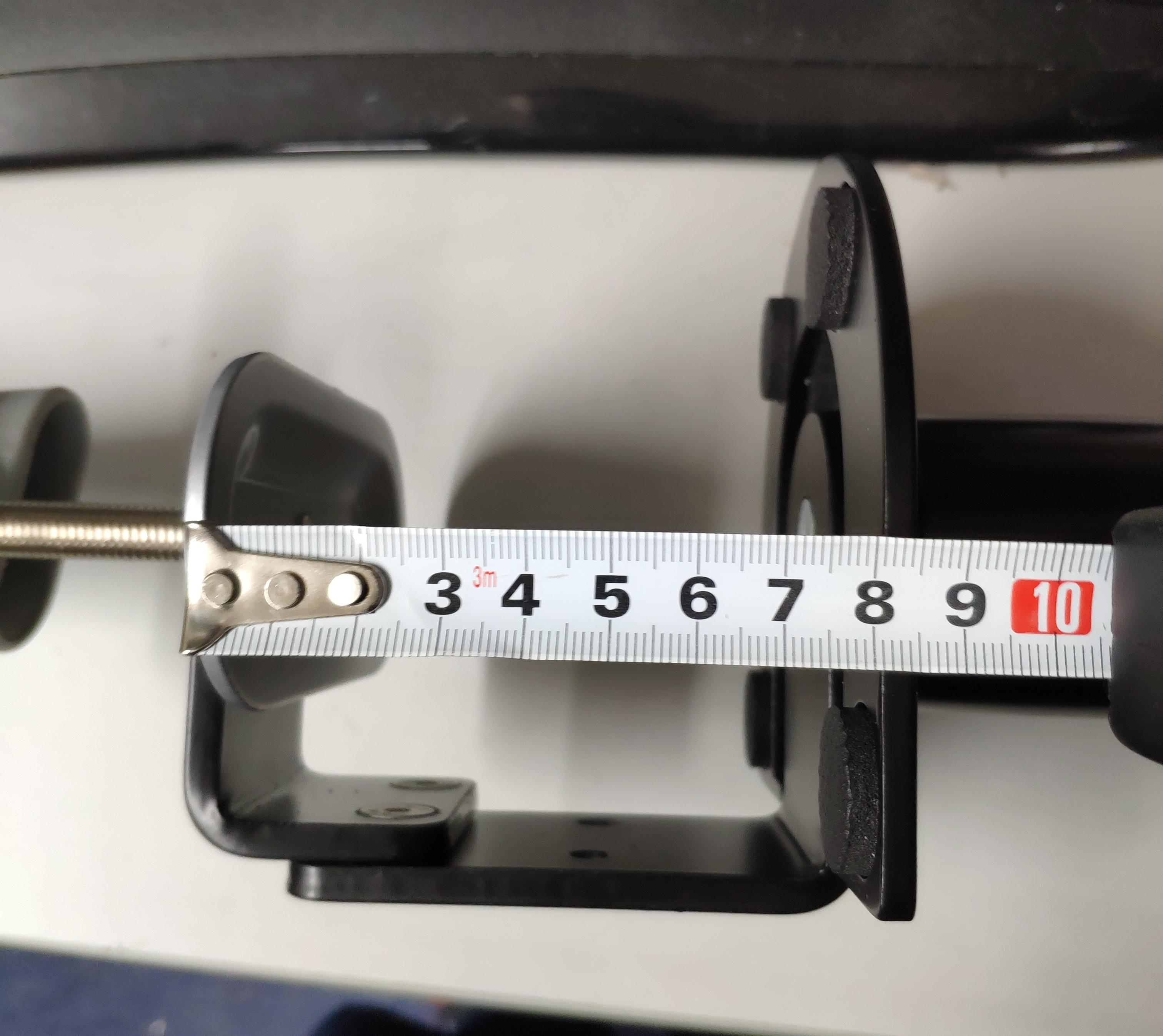 Clamp with the 8cm desk width measurement shown