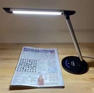 FleiBright lighting a sudoku and crossword in a newspaper