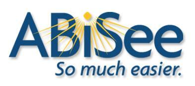 ABiSee logo and the words below, so much easier.