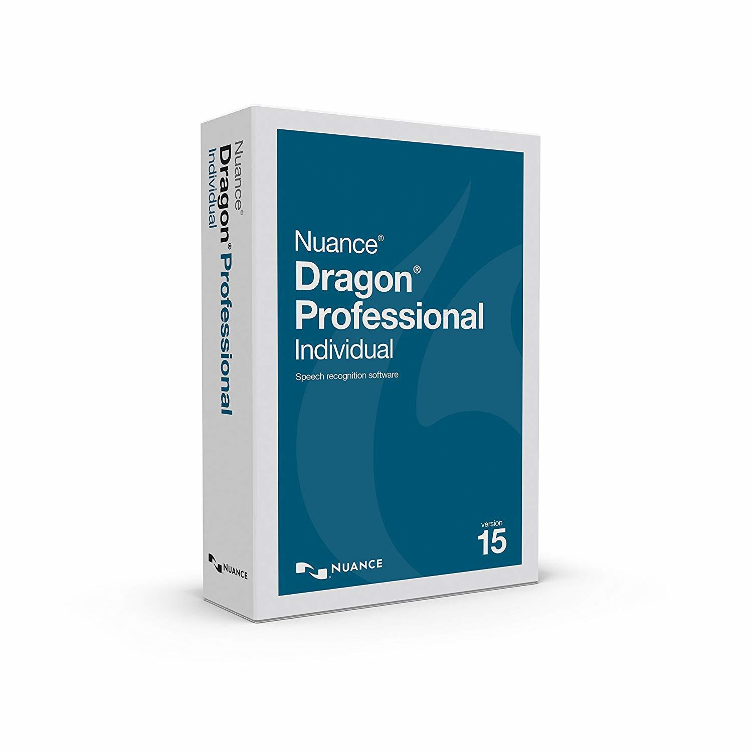 The box of Dragon Professional Individual Version 15