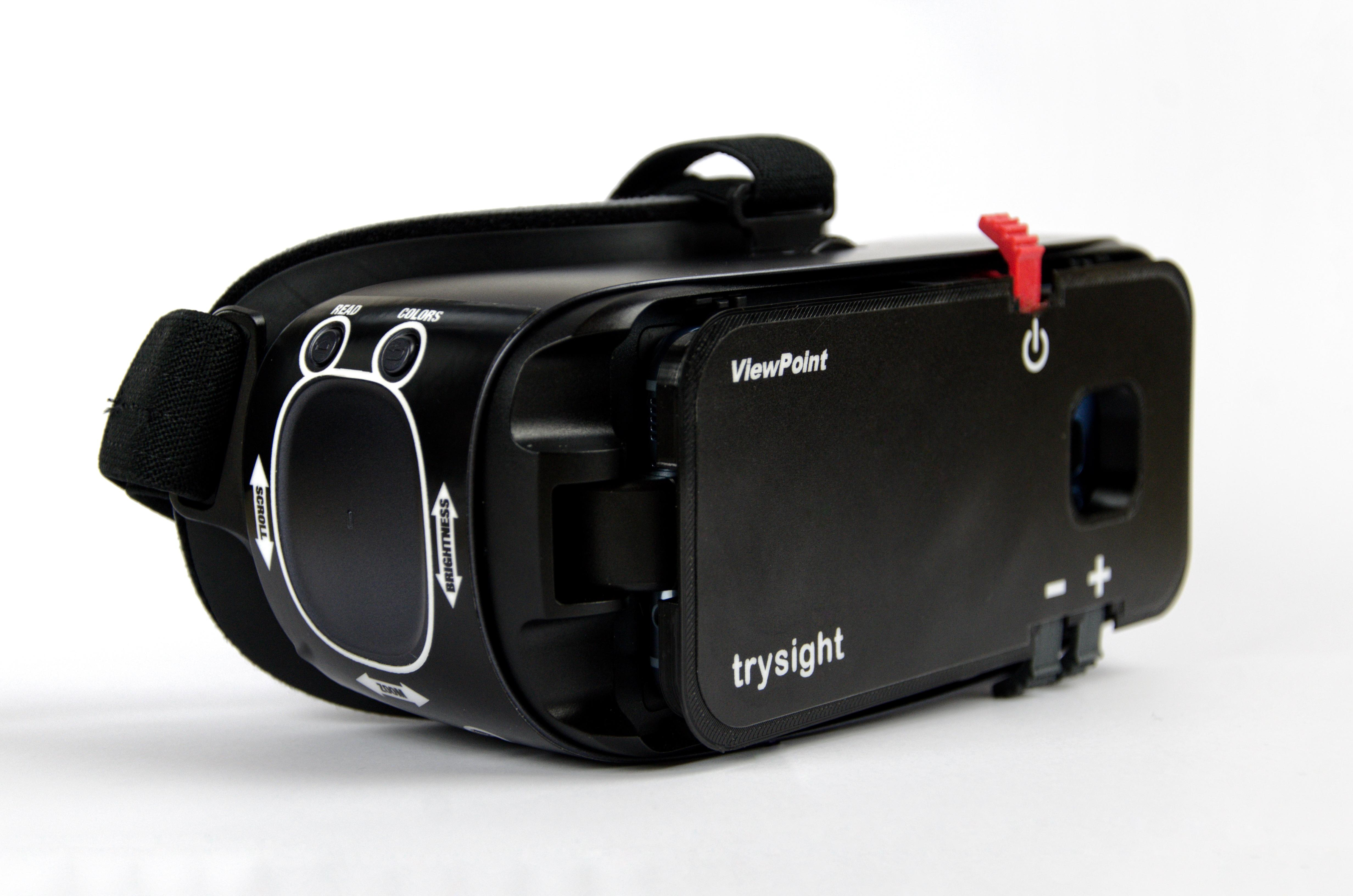 trysight wearable magnifier with speech