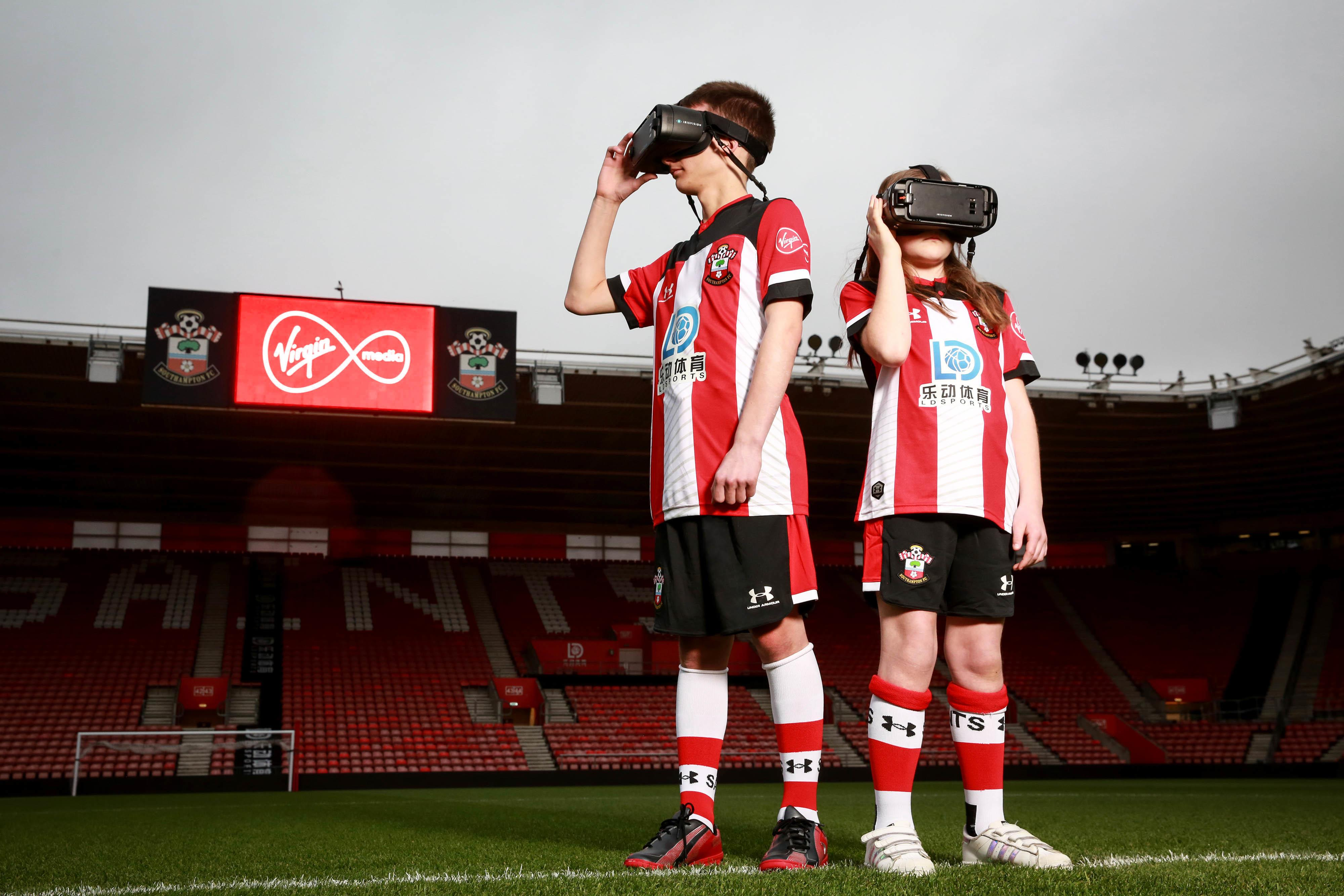 Young football fan and player wearing the IrisVision Live