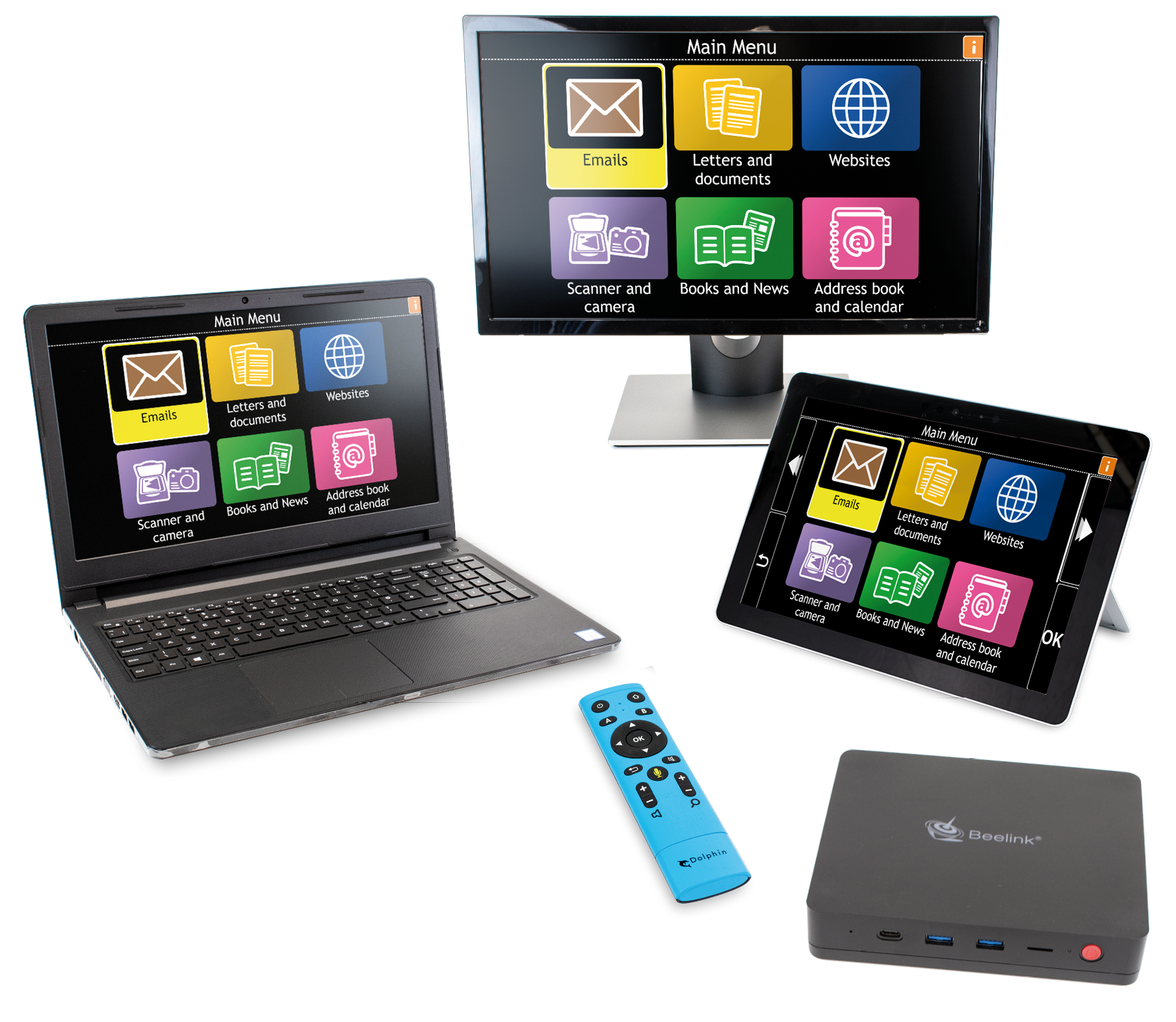 GuideConnect with Desktop, laptop, tablet and Tv connectivity