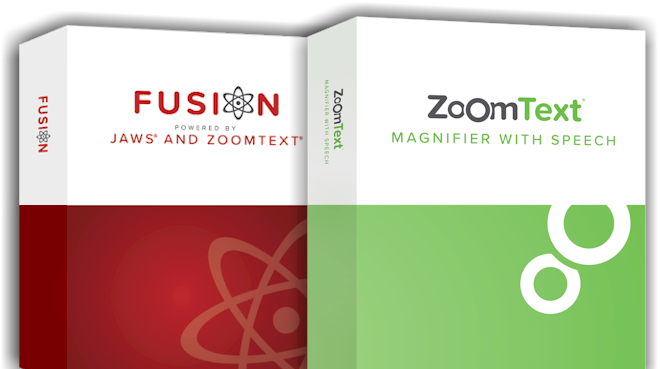 ZoomText and Fusion Boxes