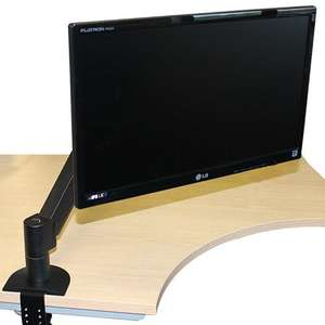 Monitor on a monitor arm