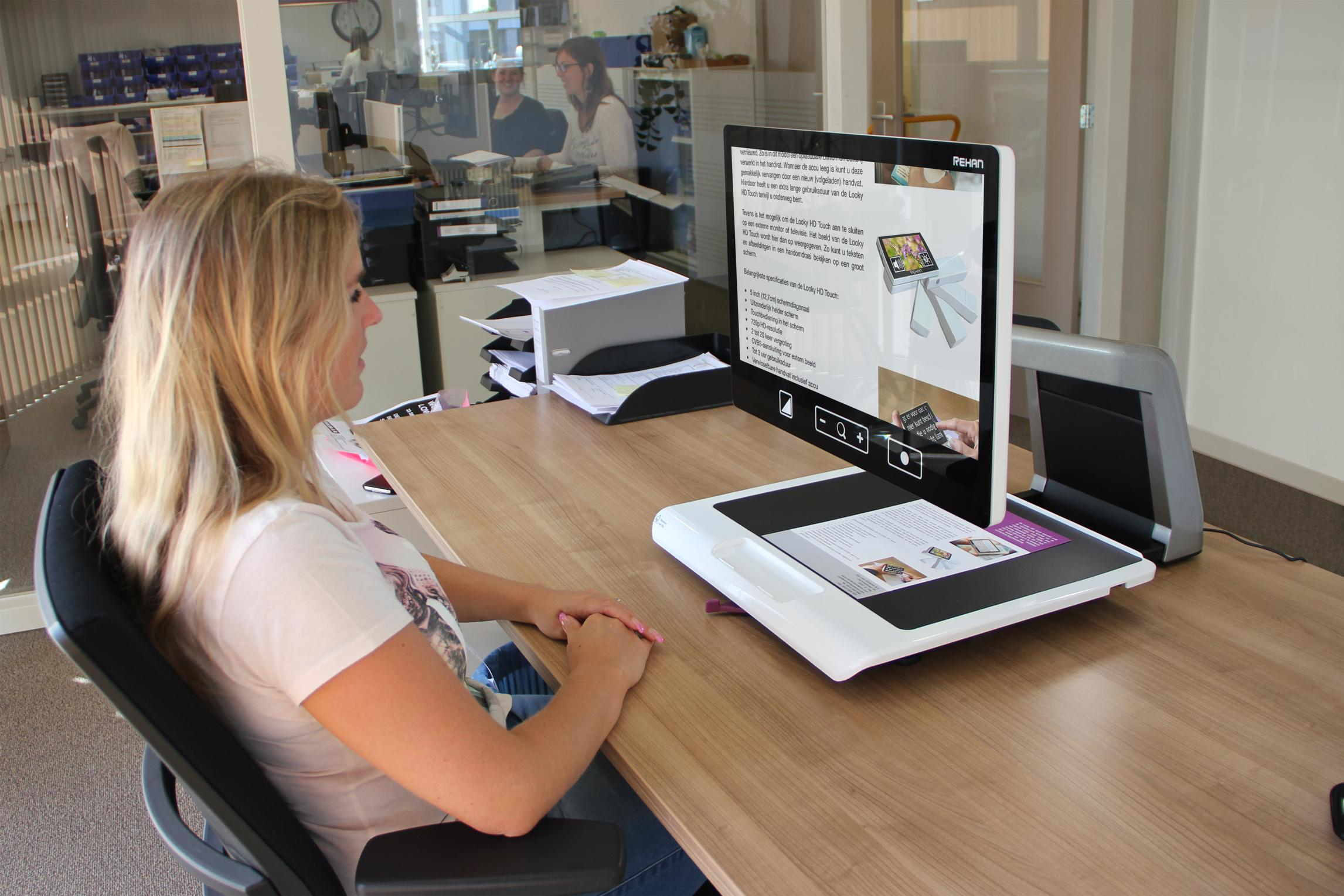 Acuity Full HD being used in a work setting at a desk