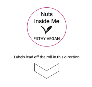 FILTHYVEGAN-STICKERS - Filthy Vegan Nuts In Me Stickers - 30mm Custom Branded Stickers - FILTHYVEGAN-STICKERS