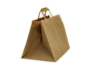 E60127 - SOS Paper Bag Wide Gusset Kraft Bag Recyclable Compostable - 4 x Cases of 250 (1000 Bags) -