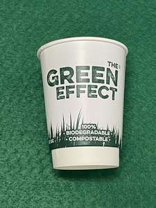 GREEN12OZDW - Green Effect Recyclable and Compostable Hot Cups Double Wall 340ml / 12oz - Case 500 - GREEN12OZDW